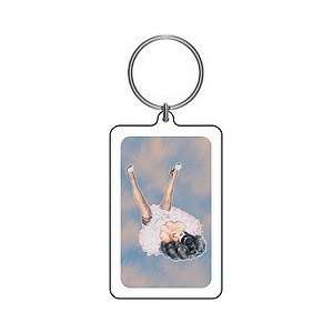 Pink Bettie Page Fairy Keychain art by Olivia Everything