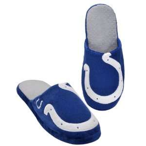 INDIANAPOLIS COLTS OFFICIAL LOGO PLUSH SLIPPERS SIZE L