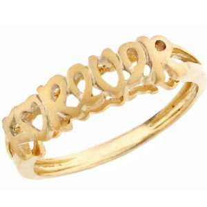 14k Solid Yellow Gold forever Band Ring Jewelry Jewelry