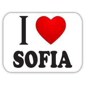 I Love SOFIA Bulgaria Car Bumper Sticker Decal 5 X 4