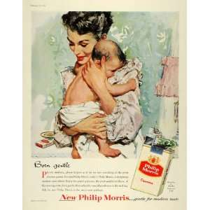 1956 Ad Gentle Philip Morris Smoking Tobacco Cigarettes Mother