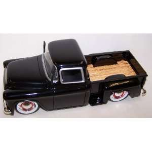 City 1955 Chevy Stepside with White Wall Tires in Color Black Toys