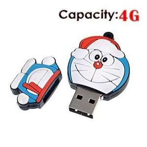 4G Rubber USB Flash Drive with Robot Cat Shape Electronics