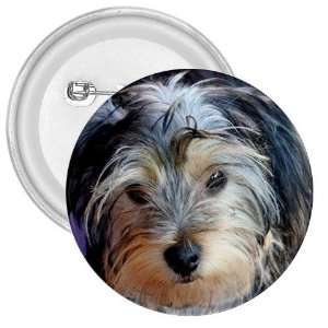 Yorkshire Terrier Puppy Dog 3 3in Button E0654 Everything