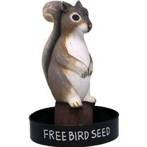 Bobbo Inc Bird Feeder Squirrel Center Mounted Hand Crafted Wire Mesh