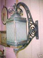 1920s Exterior Wrought Iron light sconce~LARGE~