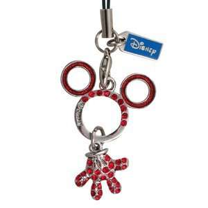 Disney Mickey Minnie Mouse Luxury Red hand with Blink Diamond Cell