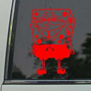 SpongeBob Red Decal Squarepants Car Truck Window Red
