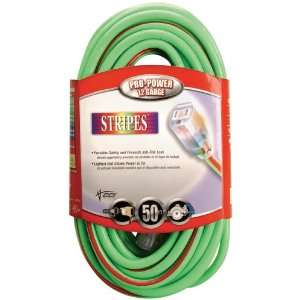 Gauge Neon Stripe Outdoor Extension Cord with Lighted Ends, Green/Red