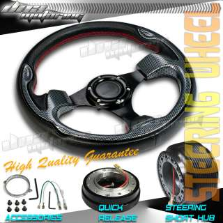 3PC COMBO QUICK RELEASE+HUB+320MM T330 RACING JDM STEERING WHEEL CIVIC