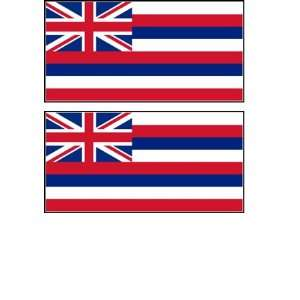 2 Hawaii State Flag Stickers Decal Bumper Window Laptop