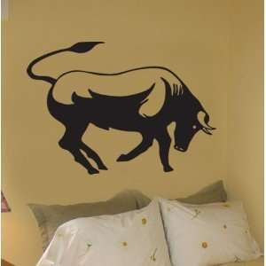 Vinyl Wall Art Decal Sticker Bull Run Horns 35x25