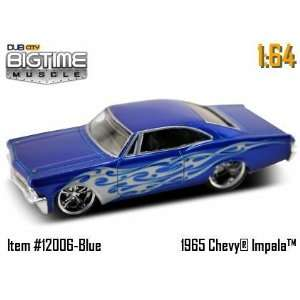 Dub City Big Time Muscle Blue 65 Chevy Impala 164 Die Cast Car Toys