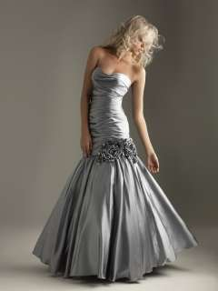 NEW Silver Formal Party Evening Gown Dress Size 16