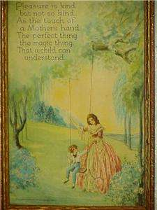 1930s Framed Print Titled Mother Perfect Gift For Mother`s Day Mother