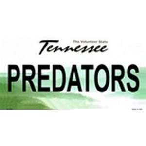 Tennessee State Background License Plates   Predators Plate Tag Tags