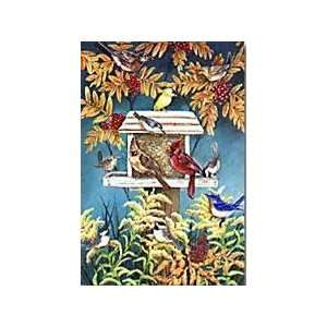 Autumn Songbirds Bird Feeder Mini Flag Patio, Lawn & Garden