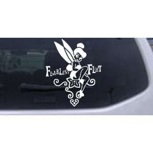 Tinkerbell Fearless Flirt Decal Cartoons Car Window Wall Laptop Decal