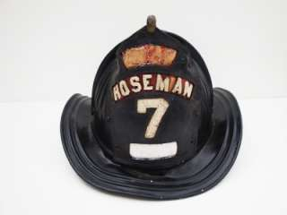 Vintage CAIRNS Metal Fire Helmet HOSEMAN 7 Fire Fighter Helmet Leather