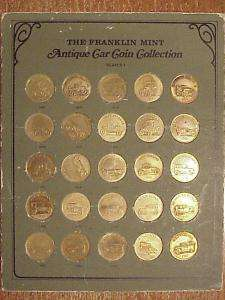 FRANKLIN MINT ANTIQUE CAR COLLECTION ~ 50 BU TOKENS