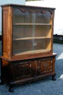 FRENCH ANTIQUE CHIPPENDALE CURIO VITRINE CABINET CHINA