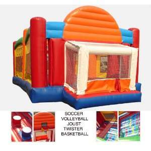 Ultimate Sports Combo Bounce House (Commercial Grade) Toys & Games