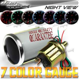 COLOR 2OIL PRESSURE LED LEN SMOKE JDM GAUGE DRIFT
