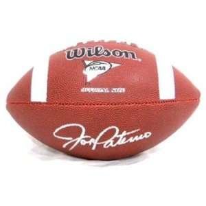 joe paterno autographed hand signed fullsize ncaa football