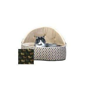 K & H MFG 025KHM 3152 Large Hooded Cuddle Sleeper Cat Bed