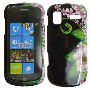 Green Flower Hard Case Cover for Samsung Focus i917 Cell