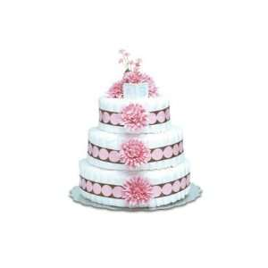 Pink Mums   Pink Dots   Large Baby Shower Diaper Cake