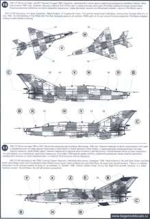 Begemot Decals 1/72 MIKOYAN MiG 21 FISHBED Russian Jet Fighter #3