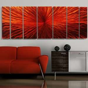 Intensity Modern Abstract Metal Wall Art Painting Decor