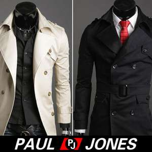 NWT Mens Fashion Slim Fit Jacket Macs Trench DA Casual Coat outerwear