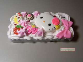 HELLO KITTY Hellokitty Ice Cream 3D Cake Hard Case COVER for iPhone 4