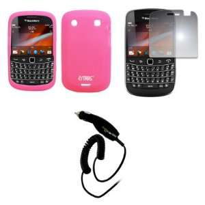 EMPIRE Pink Silicone Skin Case Cover + Mirror Screen