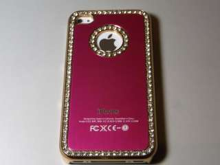 Luxury Elegant Diamond Bling Crystal designer Case Cover for iPhone 4