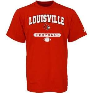 NCAA Russell Louisville Cardinals Red Football T shirt