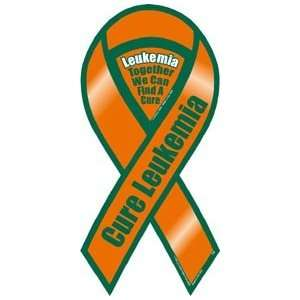 Cure Leukemia Awareness 2 in 1 Ribbon Magnet Automotive