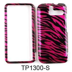 HTC ARRIVE 7 PRO TRANS HOT PINK ZEBRA PRINT Cell Phones & Accessories