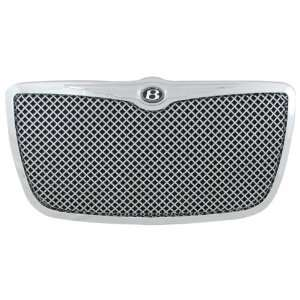Grille with Chrome Stainless Steel 4.0 mm Flat Wire Mesh Automotive