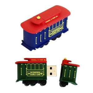AMP 1GB Cable Car USB Flash Drive Electronics