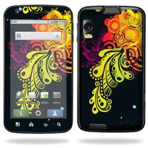 Vinyl Skin Decal Cover for Motorola Atrix 4G Cell Phone   Flourishes