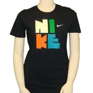 Nike Womens Stack T Shirt in Black XXL