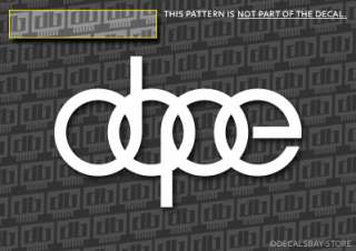 NEW AUDI DOPE vinyl Decals Stickers (5)