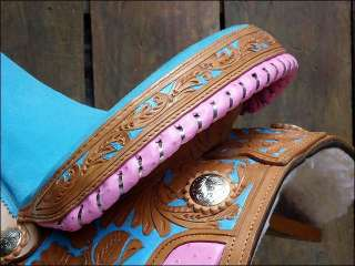 OS188 HILASON WESTERN BARREL RACING TRAIL PLEASURE SADDLE 15
