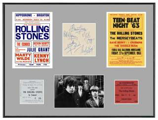 Rolling Stones 60s Posters Autographs Tickets Display