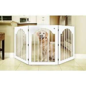 Universal Free Standing All Wood Pet Gate in White Pet