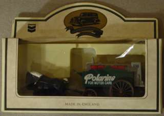 LLEDO STANDARD OIL CHEVRON DIE CAST POLARINE HORSE DRAWN WAGON NIB