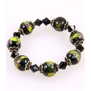 Fashion Jewelry Desinger Elastic Murano Glass Bead Bracelet With
